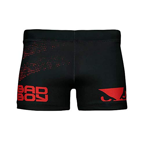 Bad Boy Classic Polyester Competition MMA Mixed Martial Arts Vale Tudo Shorts Black/Red - Small