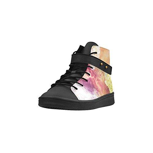 Artsadd Akvarell Lotus Mandala Rund Tå Kvinner Sko Øke Sneaker