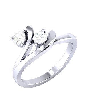 60e3d8be8d32a Voylla Precious 925 Sterling Silver With White Rhodium Plated Cubic  Zirconia Rings Jewelry Gift For Her