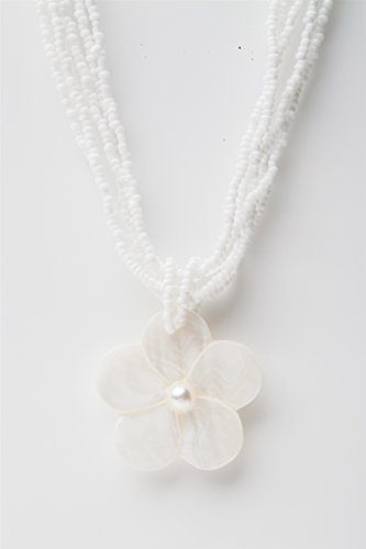 Shell Flower Pendant Bead - 6