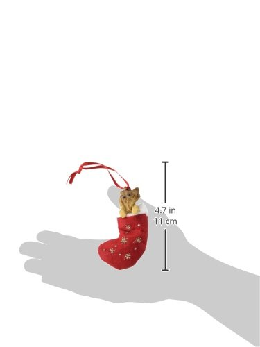 Yorkie Puppy  Christmas Stocking Ornament with Santas Little Pals Hand Painted and Stitched Detail E/&S Imports Inc ORN221-107