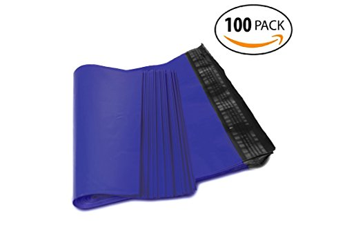 Poly mailers 9x12 Poly bags 9 x 12. Premium quality 2.5 mil. Pack of 100 dark blue bags. Navy blue poly envelopes. Self Sealing large size mailing bags. Packaging & shipping envelopes. (Sealing Shipping Bags)