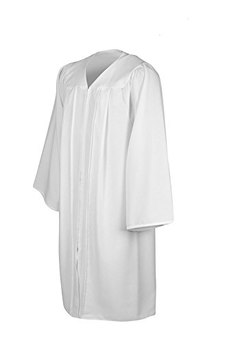 Leishungao Senior Classic Choir Robes Confirmation Robe White for Baptisms Height 5'9''-5'11''FF by Leishungao