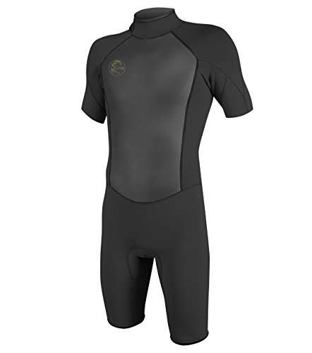 O'Neill Men's O'riginal 2mm Short Sleeve Spring Wetsuit, Black, Large