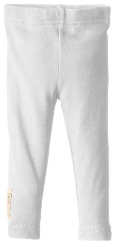 L'ovedbaby Unisex Newborn Organic Leggings, White, 0/3 Months
