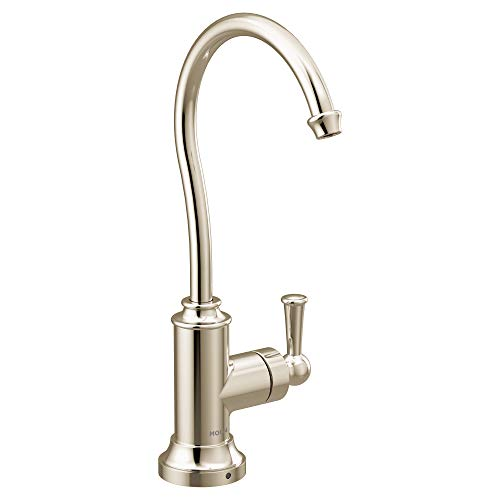 (Moen S5510NL Sip Traditional Cold Water Kitchen Beverage Faucet with Optional Filtration System, Polished Nickel)