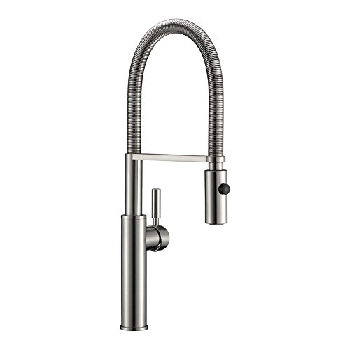 Avola Solid Brass Single Handle Touch On Kitchen Sink Faucet, Brushed Nickel Mixer Faucet, Pull Down Dual-Functional Sprayer Kitchen Faucets