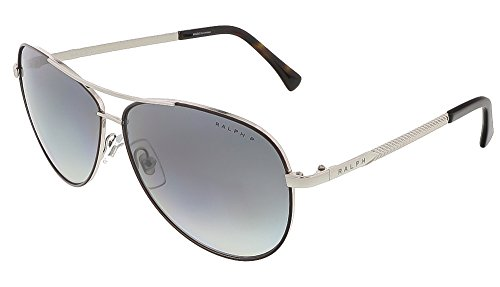 Ralph Lauren Brown Sunglasses (Ralph RA4109 Sunglasses-3011T3 Shiny Silver/Brown (Gray Gradient)