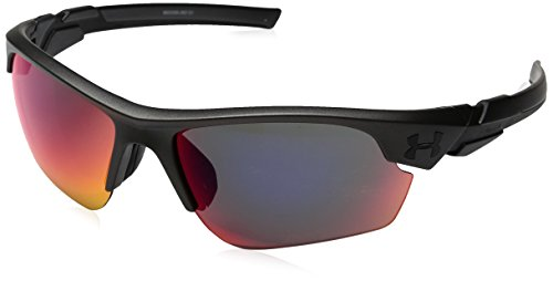 Under Armour UA Windup Wrap Sunglasses, UA Windup Satin Carbon / Black Frame / Gray / Infrared Multiflection Lens, 58 - Infrared Sunglasses