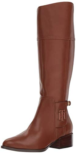 Tommy Hilfiger Women's MANI Equestrian Boot, Saddle, 8.5 M US