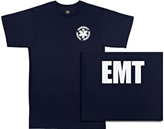 6337 Navy Blue 2-Sided E.M.T. T-Shirt (Small)