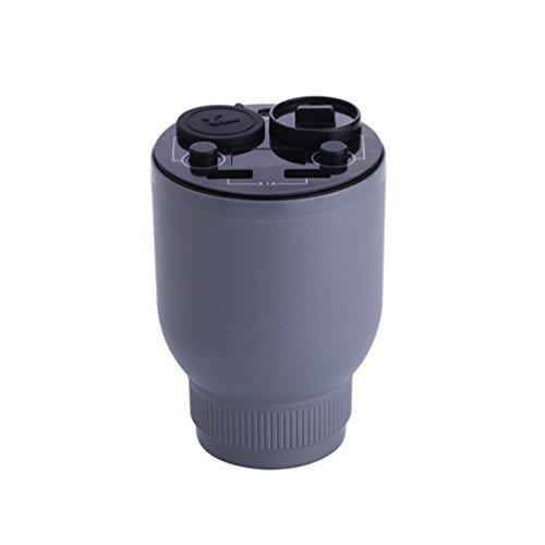 zhhbeaty USB Difusor de aceite esencial para coche ambientador difusor de aromaterapia purificador de aire con 2en...