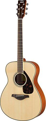 (Yamaha FS820 Small Body Solid Top Acoustic Guitar, Natural)