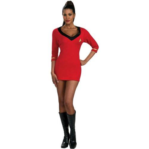 (Secret Wishes Womens Star Trek Uhura Costume, Red,)