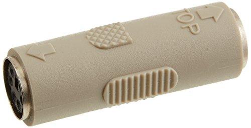 Monoprice PS2 Coupler Mini DIN6 Female to Female Molded Gender Changer (101173)