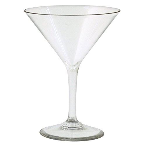 Strahl Martini Glass (Set of 4), 8 oz, Clear (Glass Polycarbonate Martini)