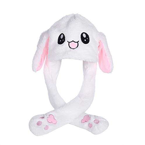 t Kpop Idols Moving Rabbit Ear Hat Cute Pop Up Ears Hat Toys Gift (Rabbit can Sound) ()