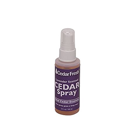 Household Essentials CedarFresh 84802 Cedar Power Spray with Lavender Essence Scent - Protects Closets from Pests - Restores Scent to Cedar Wood Accessories - 2 fl. (Moths Spray)