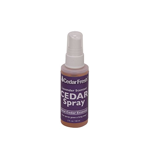 Household Essentials CedarFresh 84802 Cedar Power Spray with Lavender Essence Scent | Protects Closets from Pests | Restores Scent to Cedar Wood Accessories | 2 fl. oz. Spray Balls