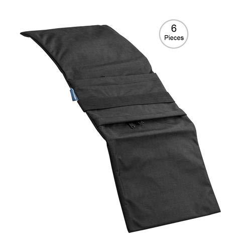 Flashpoint Empty Saddle Sandbag, Water-Resistant Cordura Nylon - (27 lb Capacity, Black) (6 Pack)