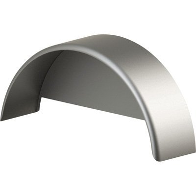 Tow Zone 44916 Silver 9''x 32''x 15'' Single Round Steel Fender with Skirt (Fits 13in.-15in. Tires),1 Pack