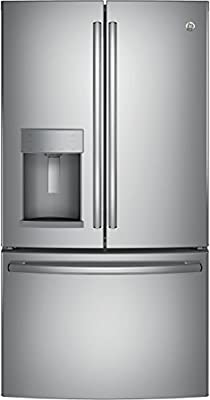 "GE GYE22HSKSS 36"" Energy Star, ADA Compliant Counter-Depth French Door Refrigerator with 22.2 cu. ft. Capacity, Stainless Steel"