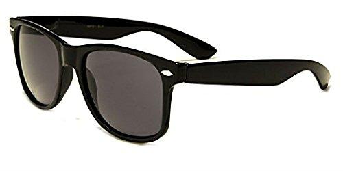 Boolavard Classic Lunettes de soleil unisexes Style rétro/années 80 Protection UV400 Noir uLPngHhrh