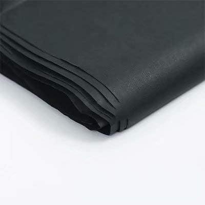 """Liroyal (20""""x 30"""") 10 x ギフトラップ ラッピングペーパーシート ピュアカラーティッシュペーパー 10Pc Black"""