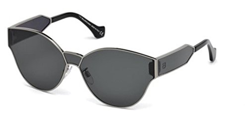 Balenciaga BA0096 Semi Shiny Dark Ruthenium/Smoke Fashion Sunglasses