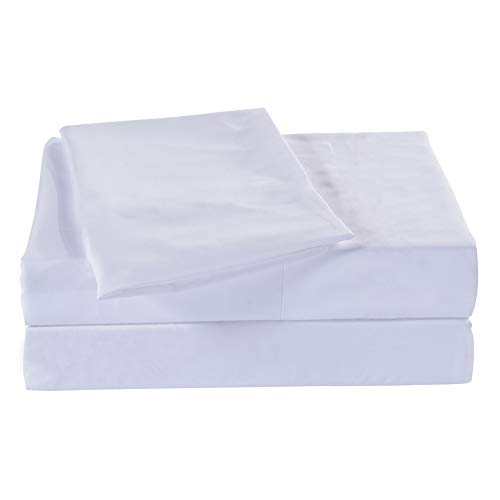 Queen Size Flat Sheet Single - 300 Thread Count 100% Egyptian Cotton Quality - Hotel Collection Luxury Flat Sheet Sold Separately - White Cotton Queen Size Flat Sheet