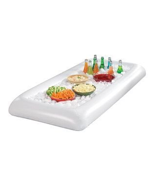 Inflatable Serving Bar /MIJOYEE BBQ Picnic Pool Party Buffet Luau Cooler,Buffet Salad Food & Drink Tray- With Drain Plug (1 PCS)