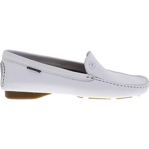 Zapatos de Blanco Cordones para Blanco de Cuero Snipe Mujer dgZ0Rtqdn