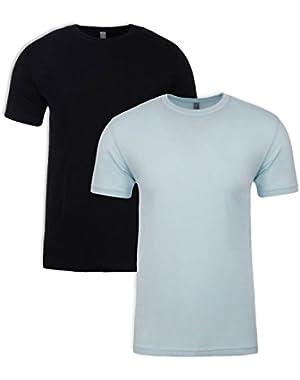 N6210 T-Shirt, Black + Ice Blue (2 Pack), Medium