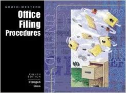 South Western Office Filing Procedures accompany