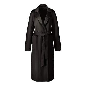 FuweiEncore Abrigo de Cachemir de Doble Cara para Mujer Abrigo de Lana de Cachemira Ondulado, Pureblack, XS (Color : -, tamaño : -): Amazon.es: Hogar
