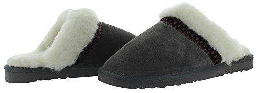 Scuff Grey 13 Women's Luks Slipper Suede Muk Dawn PnwpvSqIH