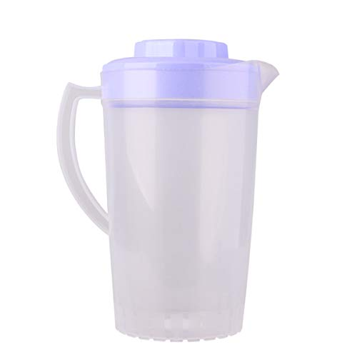 iEFiEL Food Grade 2000ml Plastic Water Pitcher with Lid Container for Cold Water Ice Tea Juice Lavender One Size