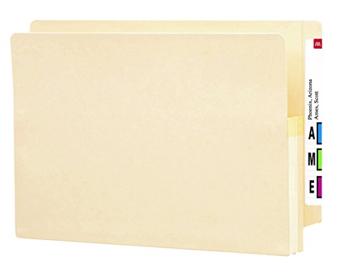 Smead End Tab File Pocket, Reinforced Straight-Cut Tab, 1-3/4