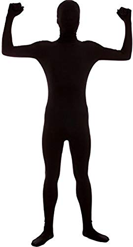 VSVO Second Skin Zentai Full Body Costume (Kids Medium, Black)]()