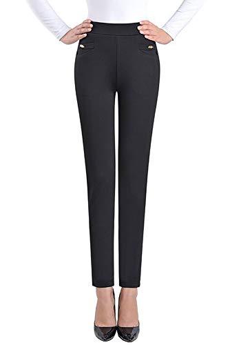 Per Leggings Inverno Nero Colore Taglie Autunno Elasticizzata Vita Solido Pantaloni Forti di KINDOYO Alta Donna Casual Primavera la PwF1q17