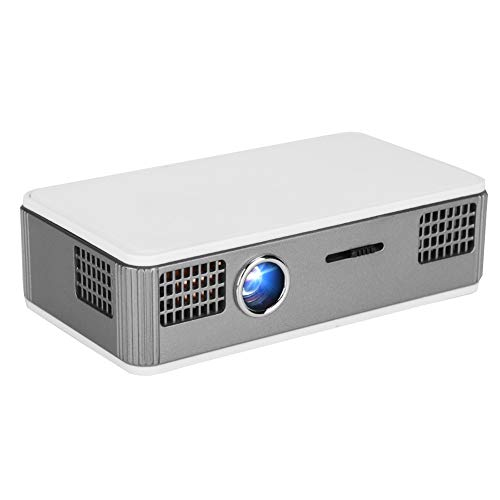 fosa Bluetooth HD Projector Mini Portable DLP Micro Projector WiFi Bluetooth Home Cinema Beamer with Cooling System for Android, for Play Videos/TV Series/Photo Share(US Plug) from fosa