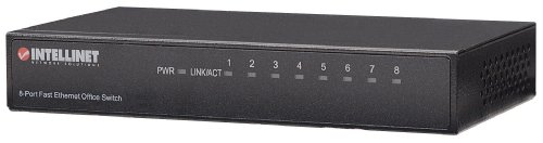 Intellinet 8-Port 10/100Mbps Fast Ethernet Office Switch (Metal) (523318) by Intellinet