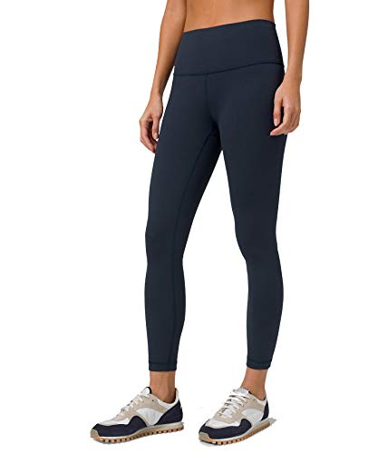 Lululemon Women's Wunder Under Stretchy Fitness Pants - High Rise Leggings, Sweat-Wicking Fabric, Firming Support, 25 Inch Inseam, True Navy Blue, Size 6