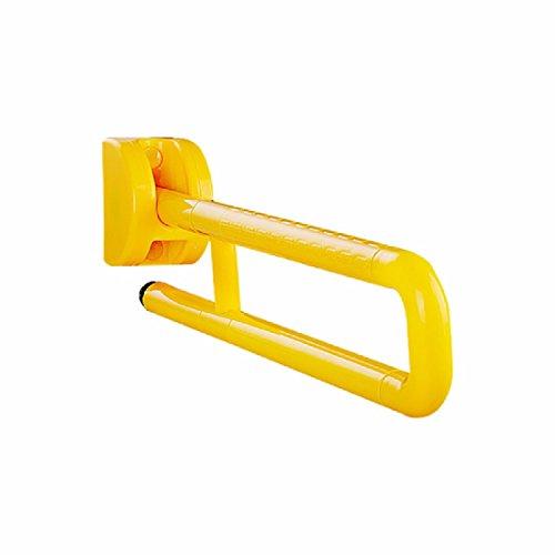 WAWZJ-Handrail Toilet Handrails Plastic Pedestal Circular Elderly Toilet Stool Handrail Barrier Handrails,Yellow