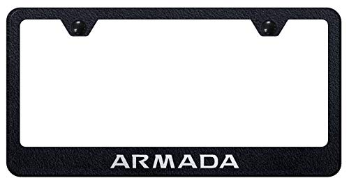 Automotive Gold Laser Etched Rugged Black Armada Stainless Steel Frame