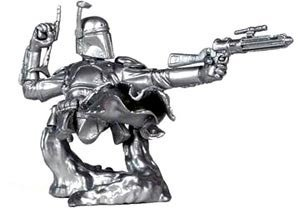 (Star Wars Boba Fett Chrome (Silver) Bust-Ups Series 3 - Limited Edition)