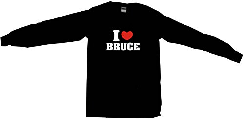 I Heart Love Bruce Women's Regular Fit Tee Shirt XXL (2XL)-Black Long - Attire Shore Jersey
