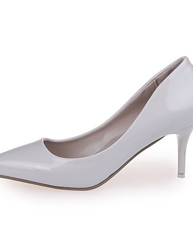 GGX/ Damen-High Heels-Lässig-PU-Stöckelabsatz-Absätze-Schwarz / Rosa / Rot / Weiß / Silber / Grau gray-us5.5 / eu36 / uk3.5 / cn35