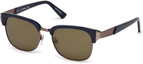 Sunglasses Diesel DL 0235 92L blue/other / roviex - Diesel Sunglasses Mens