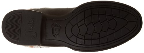 "Justin Boots Men's Farm & Ranch 11"" Boot Low Profile Round Toe Rubber Outsole,Black Cowhide,11 EE US"